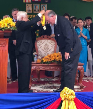 Jim McLaughlin honored by Cambodian government