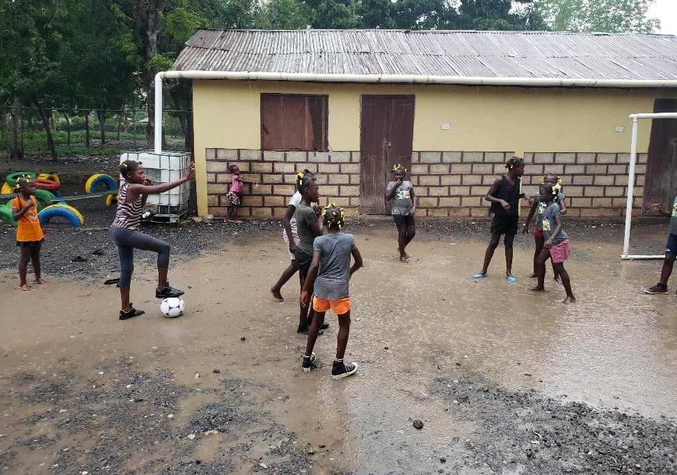 """My girls asked if they could keep playing, even though it was raining oceans. I said, """"Let's do it!"""""""