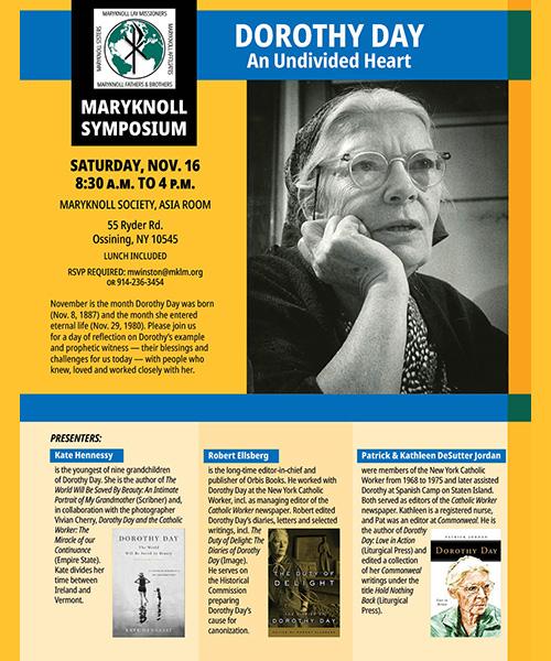 Nov. 16 Maryknoll Symposium on Dorothy Day to be livestreamed
