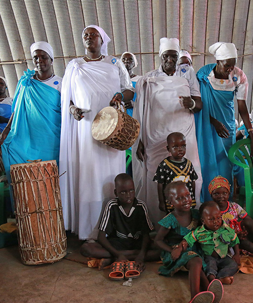 New Year's Mass in a camp for internally displaced South Sudanese