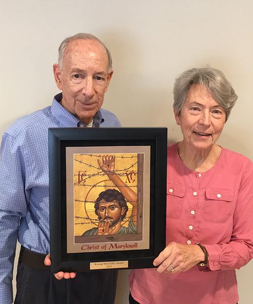 Joe and Linda Michon receive 2020 Bishop McCarthy Award
